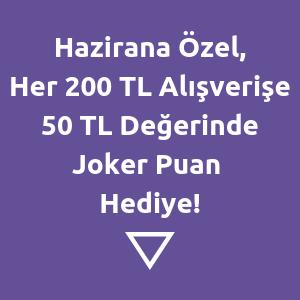 Her 200 TL Alışverişe 50 TL Değerinde Joker Puan